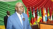 Le Président Moussa NGON Baba lors de la 74ème Session du Comité Exécutif (Bangui, 13-14 juin 2019)